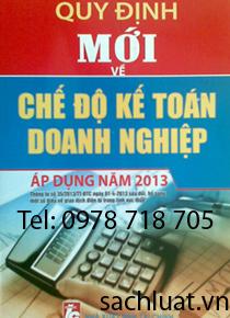 Chế độ kế toán doanh nghiệp 2013