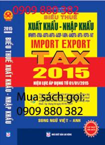 sách biểu thuế xuất nhập khẩu song ngữ anh việt 2015